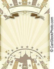 kraft paper circus sunbeams poster - A circus background on...