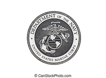 US Marine Corps official seal on a white background