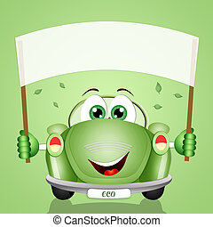 eco-car for the respect of the planet - illustration of...