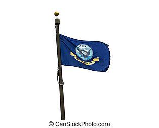 U.S. Navy flag on a white background.
