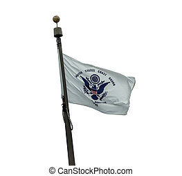 US Coast Guard flag on a white background