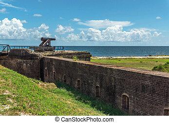 Civil War Cannon - Civil War cannon at Ft. Gains, Alabama.