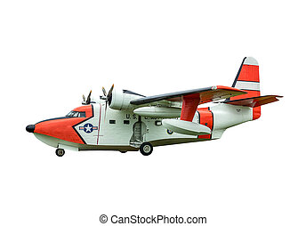 HU-16E Albatross sea plane - A HU-16 Albatross twin radial...
