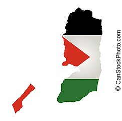 Palestine Flag - Flag of State of Palestine overlaid on...