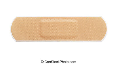 Bandaid - Adhesive bandage isolated on white