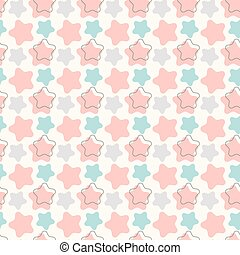 Abstract geometric retro star seamless pattern. Vector illustration