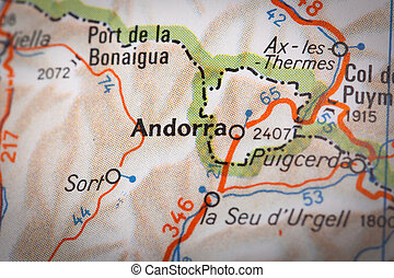 Andorra on a road map