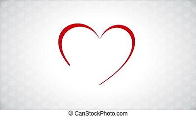 Birds in love - Red birds in love, heart Animation Design,...