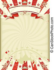 circus kraft sunbeams poster - A circus background on a...