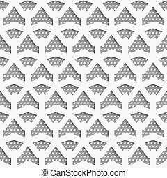 White 3d net on textured white and gray pattern