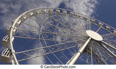 Ferris wheel 4K - Ferris wheel Shot in 4K ultra-high...