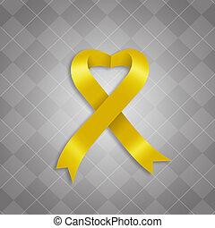 Conocimiento, amarillo, cinta