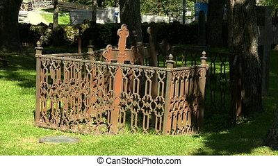 Cemetery in Lappeenranta Finland Shot in 4K ultra-high...