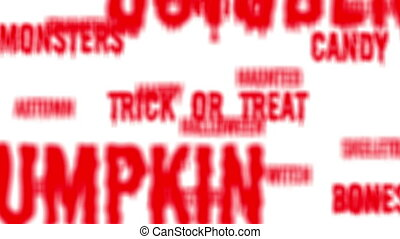 Loop of red Halloween words - Background - Seamless loop of...