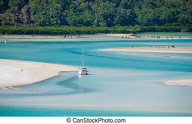 Sailing in the Whitsunday Islands, Queensland - Australia.