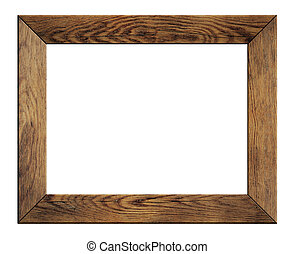 old wood frame isolated on white