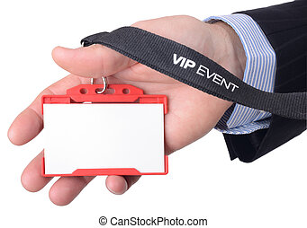 VIP access - A blank VIP badge isolated on a white...