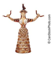 Minoan, Deusa, cobra