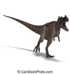 Dinosaur Ceratosaurus - 3D rendering of a Dinosaur...