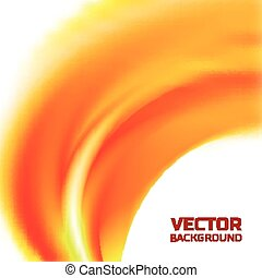 Abstract blurred orange flame background