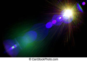 Licht, Abstrakt, hintergrund, Leuchtsignal