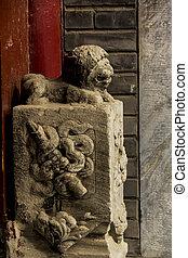 Old Beijing Hutong drum door
