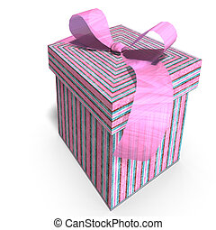 colorful giftbox - a colorful giftbox with a bow. 3D render...