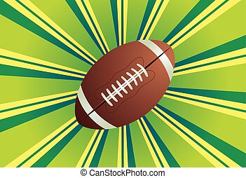 Rugby Ball - American football, rugby ball on colorful...