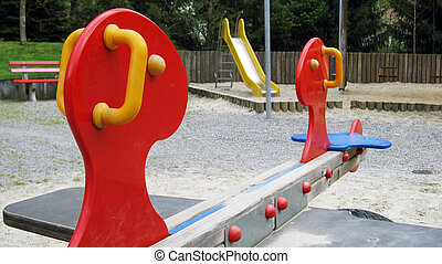 playground - nice playground for children with see saw