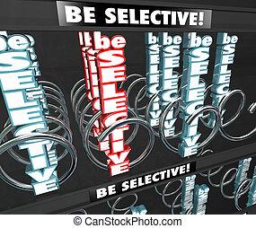 Be Selective 3d Words Snack Vending Machine Choosy Picky Fussy D