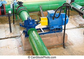 The engine with the pump in system of water supply of a city