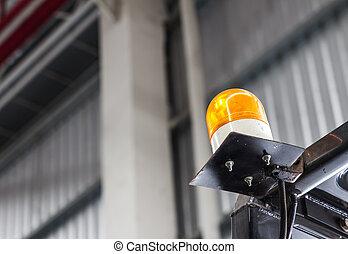 Emergency light on Forklift