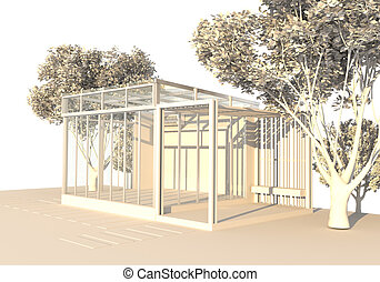 Structural Glazing, model outdoor