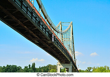 Park Bridge - a pedestrian bridge across Dnieper River,...