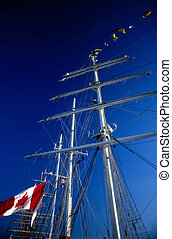 Tall Ship in Harbor, California