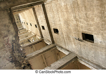 perspective - 3 - old abandoned mine in the mountains of...