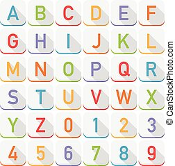 alphabet icons - set of alphabet icons, with transparent...