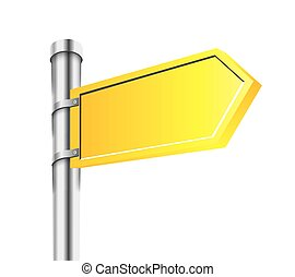 Sing Vector Design Element Road Arrow