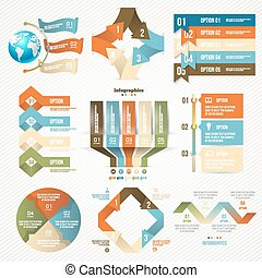 Infographics set with options Vector Design Elements