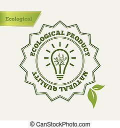 Eco Green icon. Natural quality
