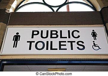 Public toilets sign - Public toilets sign, Derby,...