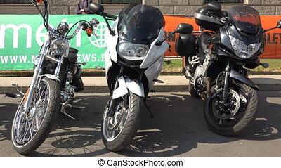Harley Davidson bike. Shot in 4K (ultra-high definition...