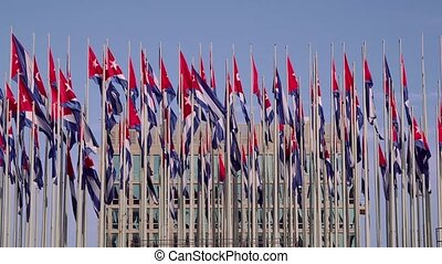Cuba, La Habana, Havana, Cuban flag - Tourism and travel:...