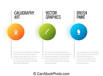 Vector abstract infographic template with place for your...
