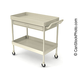 utility cart - medical devices utility cart on white...