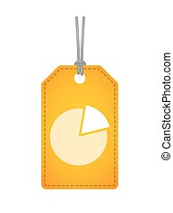label icon with a pie chart
