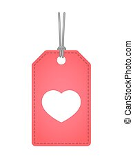 label icon with a heart - Illustration of an isolated label...