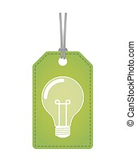 label icon with a light bulb