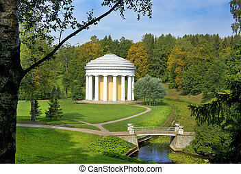 Temple of Friendship in Pavlovsk Park, Saint Petersburg -...