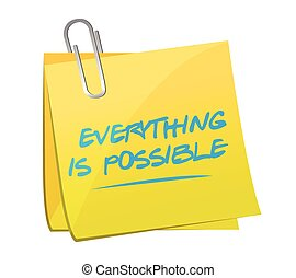 everything is possible post message illustration design over...